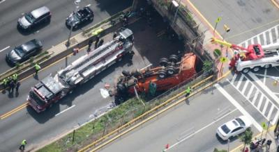 Baltimore Jewish Life | Overturned Truck Causes Massive